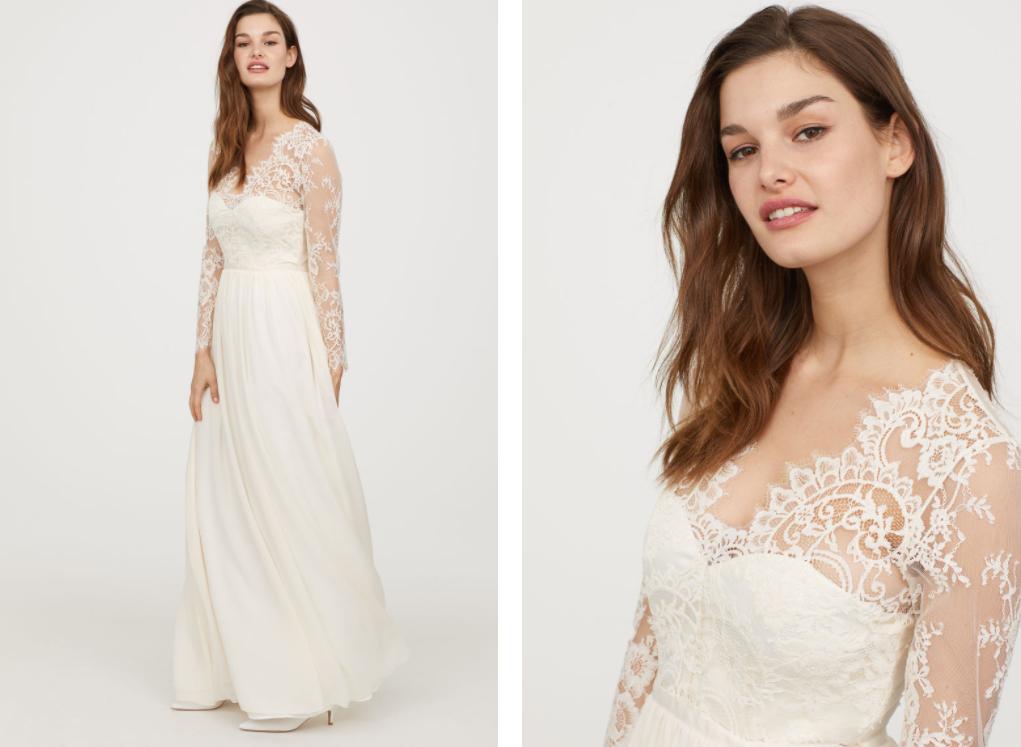 Cette robe de mariée H&M ressemble à s'y méprendre à celle de Kate Middleton (et coûte bien moins cher)