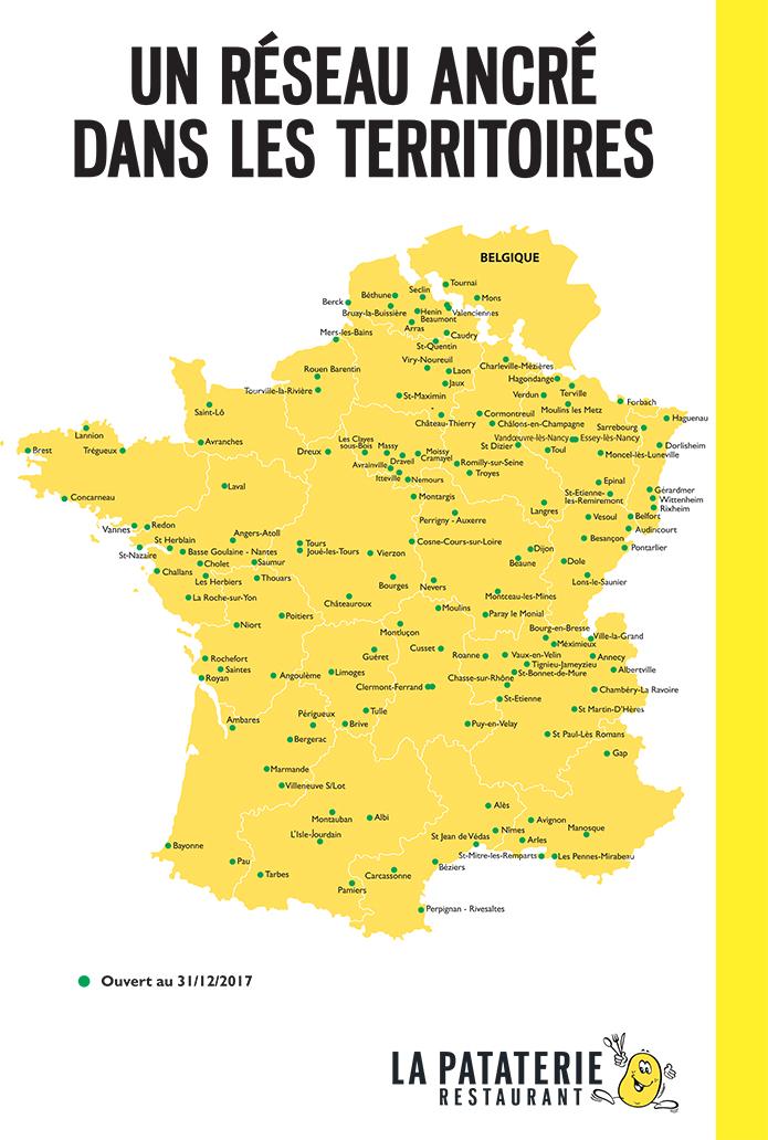 Carte Des Implantations La Pataterie