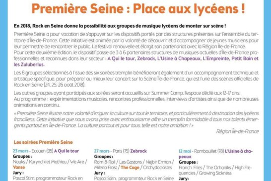Musique – Rock En Seine: Première Seine : Place aux Lycéens !