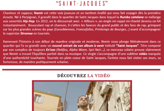 """Musique: Némir sort le clip de """"Saint-Jacques"""""""