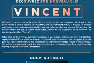 """Musique; Vin's sort le morceau """"Vincent"""""""
